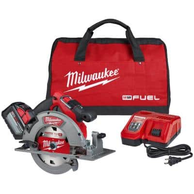 M18 FUEL 18-Volt Lithium-Ion Brushless Cordless 7-1/4 in. Circular Saw Kit with One 12.0Ah Battery, Charger, Tool Bag