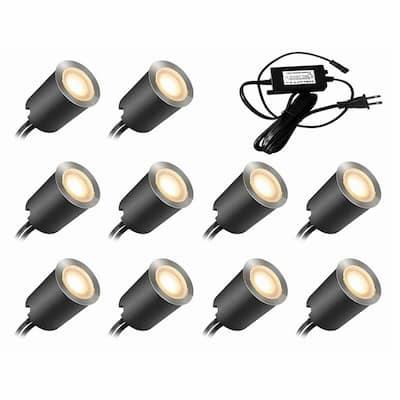 Line-Voltage Black LED Landscape Light Kit with Transformer (10-Pack)