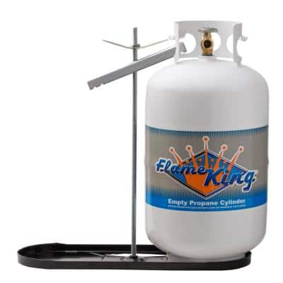 RV Propane Gas Double Bottle Rack for 40 lbs. Cylinder Kit Dual Hold Down Rack