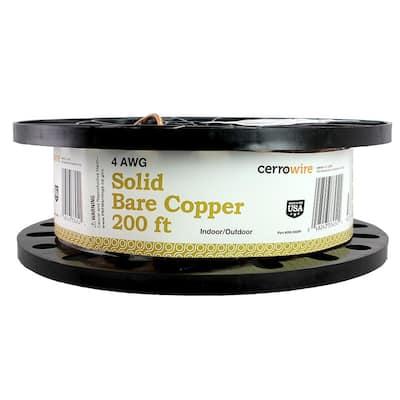 200 ft. 4/1 Soild Bare Copper Grounding Wire