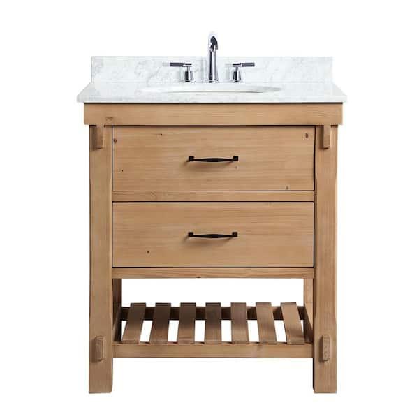 Bath Marina 30 In Single Vanity, Farmhouse Bathroom Vanity Cabinets