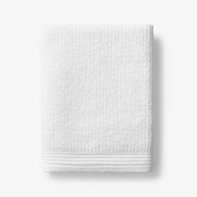 Green Earth Quick Dry White Solid Cotton Bath Towel