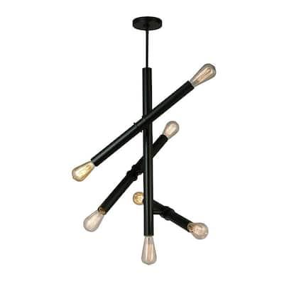 Drucker 7-Light Black Pendant