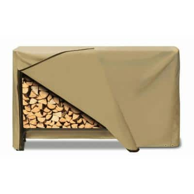 96 in. x 42 in. Log Rack Cover in Khaki
