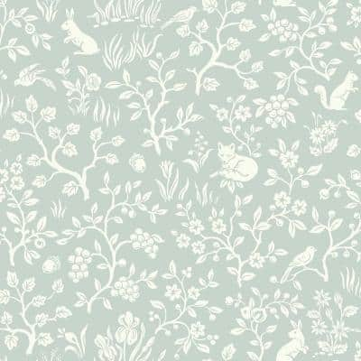 Fox & Hare Green Paper Pre-Pasted Washable Wallpaper Roll (Covers 56 Sq. Ft.)