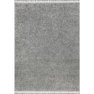 Mercer Shag Plush Tassel Charcoal 5 ft. x 8 ft. Area Rug