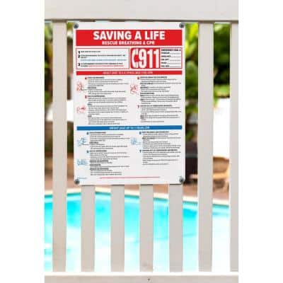 Saving a Life Swimming Pool and Spa Sign