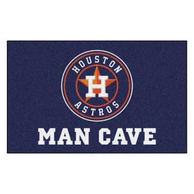 MLB - Houston Astros Man Cave UltiMat 5 ft. x 8 ft. Indoor Area Rug