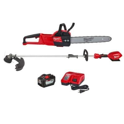 M18 FUEL 16 in. 18-Volt Lithium-Ion Battery Brushless Cordless Chainsaw Kit & M18 FUEL String Trimmer Combo Kit(2-Tool)