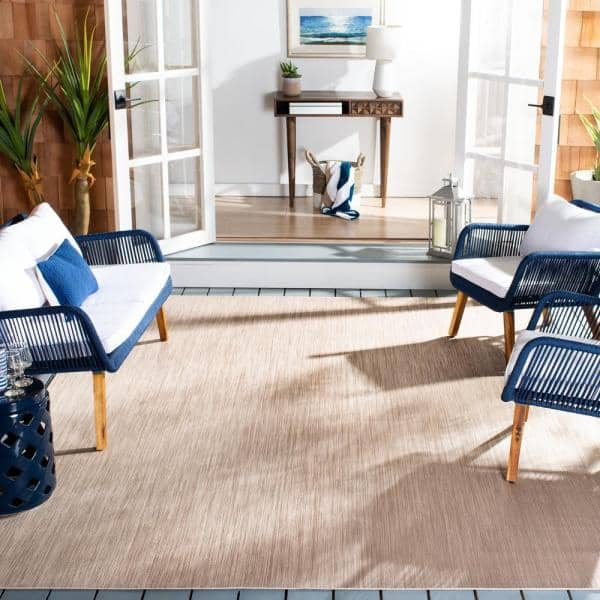 Safavieh Beach House Beige 8 Ft X 10 Ft Indoor Outdoor Area Rug Bhs218b 8 The Home Depot