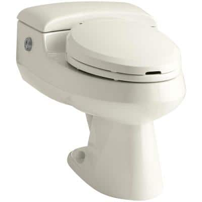 San Raphael Comfort Height 1-piece 1.0 or 1.4 GPF Dual Flush Elongated Power Lite Toilet with C3 Toilet Seat in Biscuit
