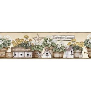 Geranium Yellow Flower Pot Yellow Wallpaper Border