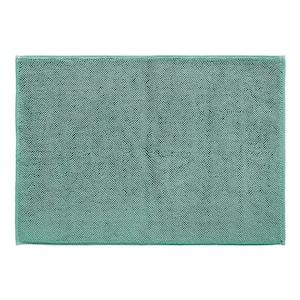 Green 20 in. x 28 in .Cotton Bath Rug Spa Turkish Reversible