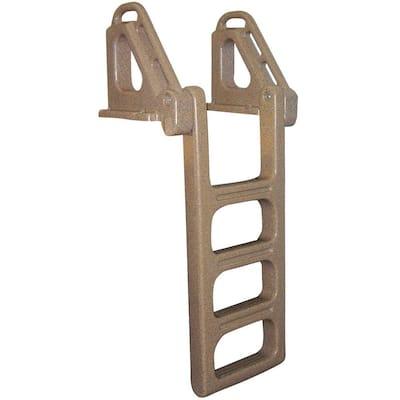 4 Step Flip Up Polyethylene Dock Ladder Distributed by Tommy Docks