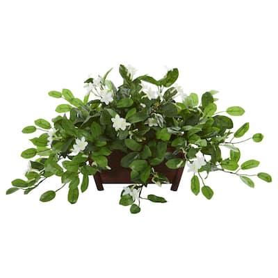 Indoor Mix Stephanotis Artificial Plant in Decorative Planter