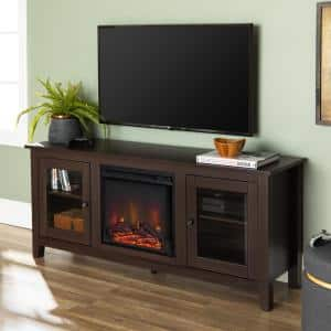 58 in. Traditional Electric Fireplace TV Stand - Espresso