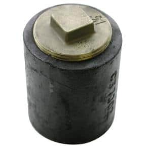 4 in. Plain End Cast Iron Cleanout Short Pattern with 3-1/2 in. Raised Head (Low Square) Southern Code Plug for DWV