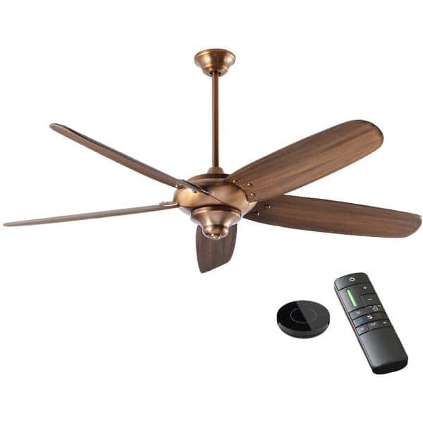 Home Decorators Collection Altura Dc 68 In Vintage Copper Ceiling Fan Works With Google Assistant And Alexa 20036 The Home Depot