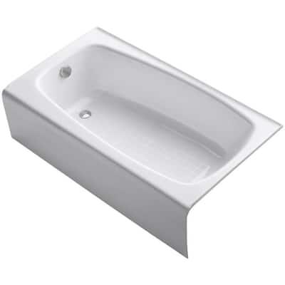 Seaforth 4.5 ft. Left Drain Rectangular Alcove Soaking Tub in White