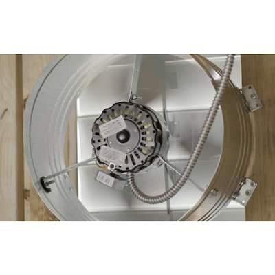 1450 CFM SIlver Electric Powered Gable Mount Electric Attic Fan