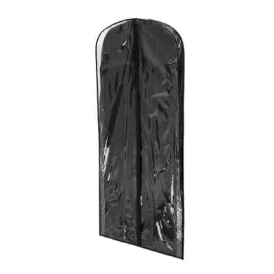 Black Polyester and Clear Vinyl Dress Bag (2-Pack)
