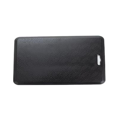 Anti Fatigue Black 17 In. x 32.5 In. Foam Comfort Floor Mat for Desks, Kitchens, Garages, Relieves Body Pains