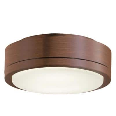 Rudolph 1-Light LED Distressed Koa Ceiling Fan Light Kit