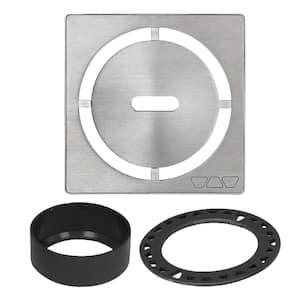 Kerdi-Drain 4 in. Brushed Stainless Steel Pure Drain Grate