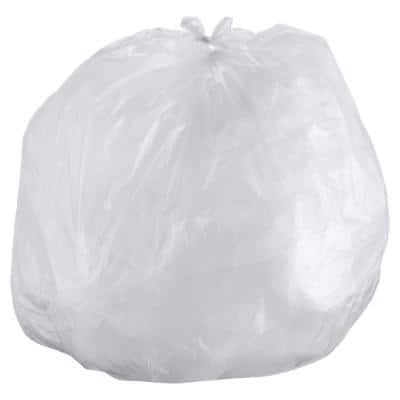 Interleaved High-Density Trash Can Liners, 60 Gallon, 43 x 48, 16mic, Natural, 200/CT