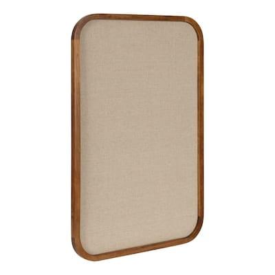 Hutton Rustic Brown Fabric Pinboard Memo Board