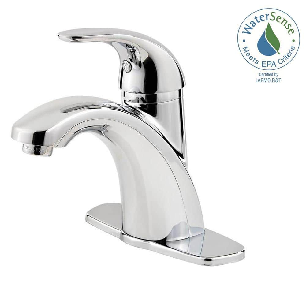 Pfister Parisa 4 In Centerset Single Handle Bathroom Faucet In Polished Chrome Lf 042 Prcc The Home Depot