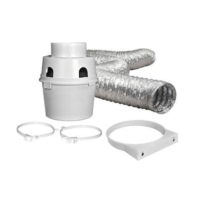 4 in. x 5 ft. Indoor Dryer Vent Kit with Flexible Duct