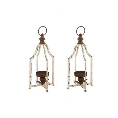 Same Size Candle Holder Farmhouse Metal Lantern (Set of 2)