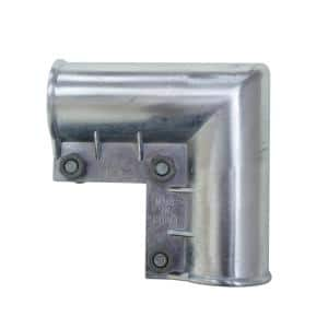 1-3/8 in. x 1-3/8 in. Galvanized Metal Chain Link Fence Gate Elbow with Nut and Bolt