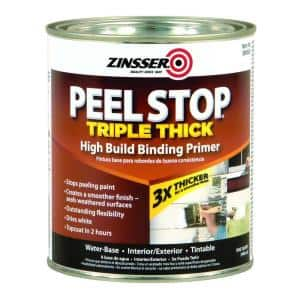Peel Stop 1 qt. White Triple Thick Interior/Exterior High Build Binding Primer (4-Pack)