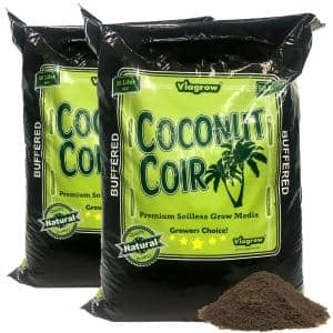 1.5 cu. ft. 50 l/52.8 Qt./13.2 G. Coco Coir Buffered Premium Coconut Growing Medium (2-Pack)