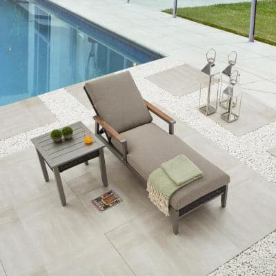 Thermal Transfer 2-Piece Wicker Patio Conversation Set with Khaki Cushions