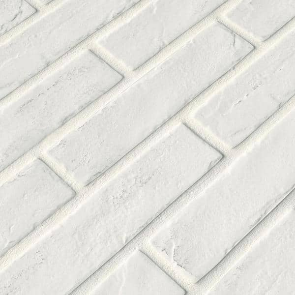 Msi Capella White Brick 2 1 3 In X 10 In Matte Porcelain Floor And Wall Tile 5 17 Sq Ft Case Ncapwhibri2x10 The Home Depot