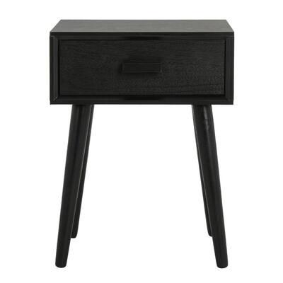 Lyle Black Storage Side Table
