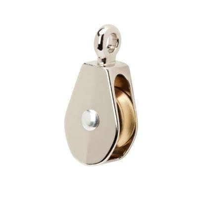 2 in. Nickel-Plated Fixed Pulley