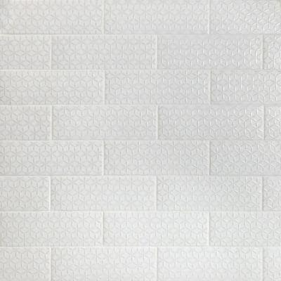 Barnet Spring White 3 in. x 9 in. Matte Ceramic Subway Wall Tile (30 pieces / 5.16 sq. ft. / box)