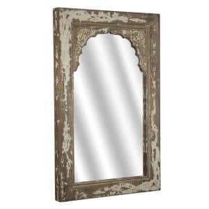 Medium Rectangle Brown Mirror (32.25 in. H x 20.5 in. W)