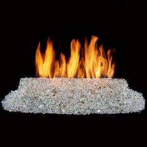 28 in. 55,000 BTU Direct Vented Natural Gas Fire Log Glass Burner Kit