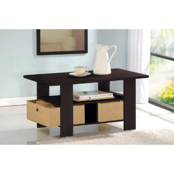 Furinno Table Basse avec bacs 11158ex//BR