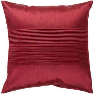 Virgili Garnet Solid Polyester 18 in. x 18 in. Throw Pillow