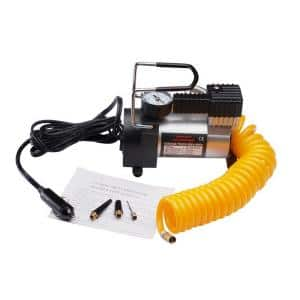 Heavy-Duty Electric Tire Air Pump with Gauge