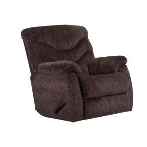 Alecio Chocolate Rocker Recliner