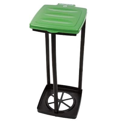 13 Gal. Green Portable Garbage Trash Bag Holder