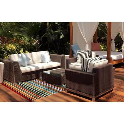 Patio Brights Santee Multi 5 ft. x 7 ft. Indoor/Outdoor Area Rug