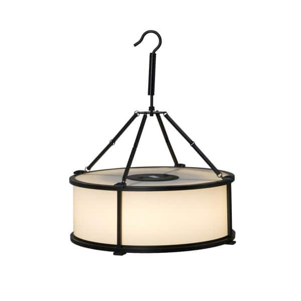 Sunjoy Huston Collection Drum Outdoor Rechargeable Led Light With Bluetooth Speaker D203014600 The Home Depot